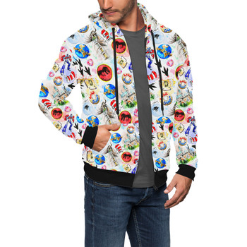 Men's Zip Up Hoodie - A Universal Adventure