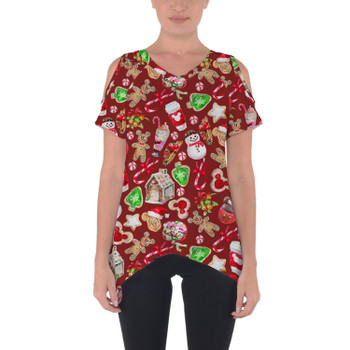 Cold Shoulder Tunic Top - Disney Christmas Snack Goals