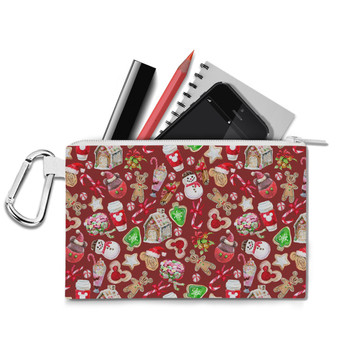 Canvas Zip Pouch - Disney Christmas Snack Goals