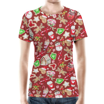 Women's Cotton Blend T-Shirt - Disney Christmas Snack Goals