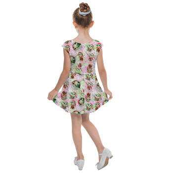 Girls Cap Sleeve Pleated Dress - The Asset Does Christmas
