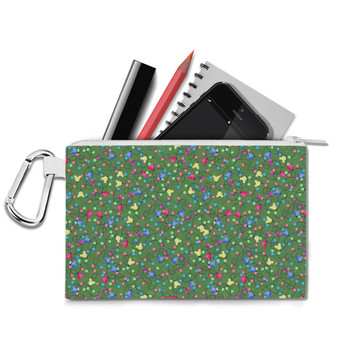 Canvas Zip Pouch - Mouse Ears Christmas Lights