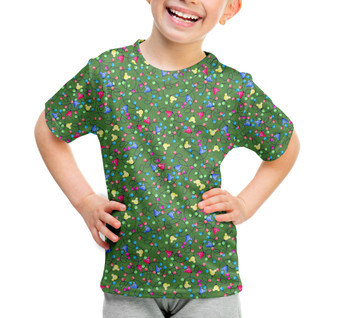 Youth Cotton Blend T-Shirt - Mouse Ears Christmas Lights