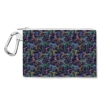 Canvas Zip Pouch - Fireworks