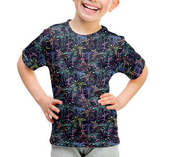 Youth Cotton Blend T-Shirt - Fireworks