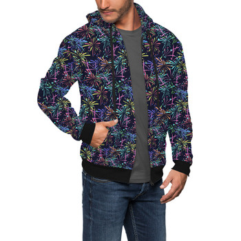Men's Zip Up Hoodie - Fireworks