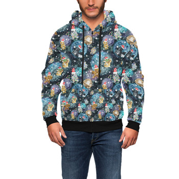 Men's Zip Up Hoodie - A Christmas Far Far Away