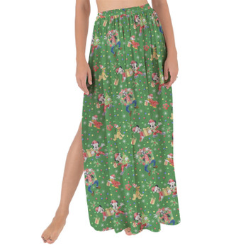 Maxi Sarong Skirt - Mickey & Friends Celebrate Christmas