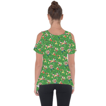 Cold Shoulder Tunic Top - Mickey & Friends Celebrate Christmas