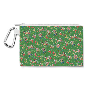 Canvas Zip Pouch - Mickey & Friends Celebrate Christmas