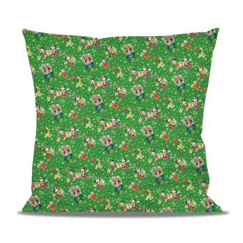Fleece Cushion - Mickey & Friends Celebrate Christmas