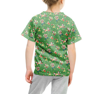 Youth Cotton Blend T-Shirt - Mickey & Friends Celebrate Christmas