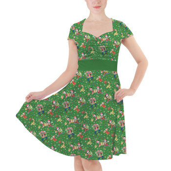 Sweetheart Midi Dress - Mickey & Friends Celebrate Christmas