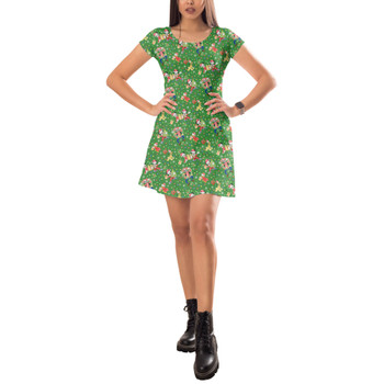 Short Sleeve Dress - Mickey & Friends Celebrate Christmas