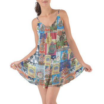 Beach Cover Up Dress - Holiday Attraction Posters Disney Parks