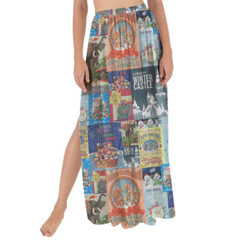 Maxi Sarong Skirt - Holiday Attraction Posters Disney Parks