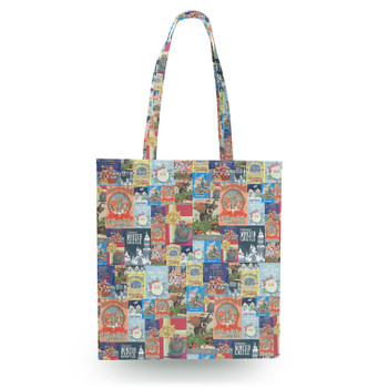 Canvas Tote Bag - Holiday Attraction Posters Disney Parks