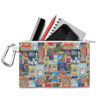Canvas Zip Pouch - Holiday Attraction Posters Disney Parks