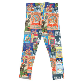 Girls' Leggings - Holiday Attraction Posters Disney Parks