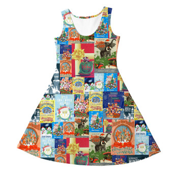Girls Sleeveless Dress - Holiday Attraction Posters Disney Parks