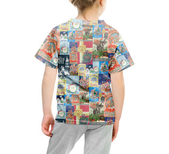 Youth Cotton Blend T-Shirt - Holiday Attraction Posters Disney Parks