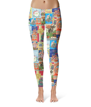 Sport Leggings - Holiday Attraction Posters Disney Parks