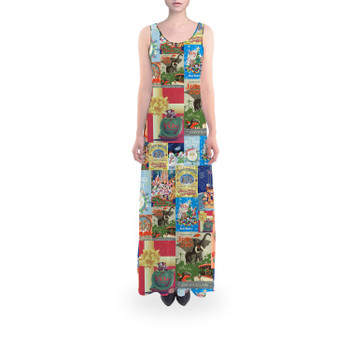 Flared Maxi Dress - Holiday Attraction Posters Disney Parks