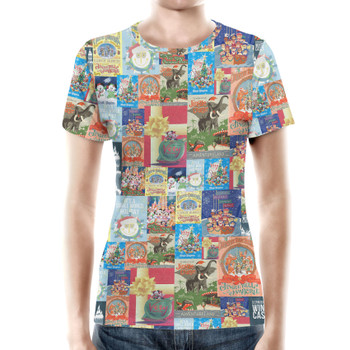 Women's Cotton Blend T-Shirt - Holiday Attraction Posters Disney Parks