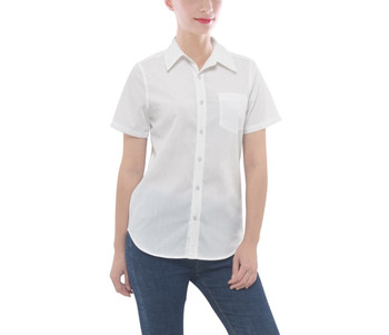 Women's Button Down Short Sleeve Pocket Shirt