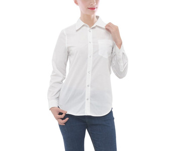 Women's Button Down Long Sleeve Pocket Shirt