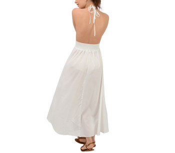 Backless Beach Maxi Dress
