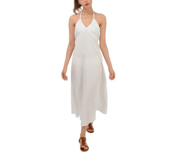 Halter Double Tie Back Maxi Dress