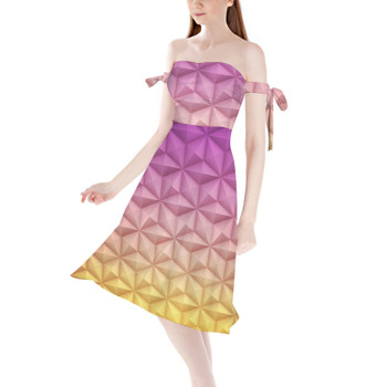 Strapless Bardot Midi Dress - Epcot Spaceship Earth