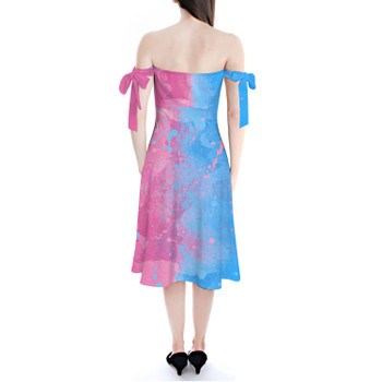 Strapless Bardot Midi Dress - Pink or Blue Sleeping Beauty Inspired