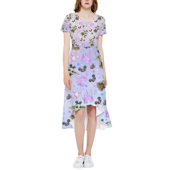 High Low Midi Dress - The Asset Goes To Disney SW Inspired Watercolor