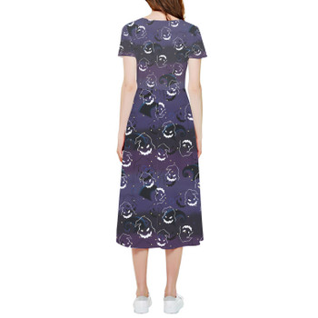 High Low Midi Dress - Oogie Boogie Halloween Inspired