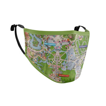 Fitted Face Mask with 50 filters - Magic Kingdom Map