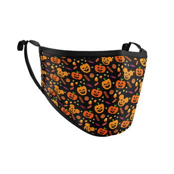 Fitted Face Mask with 50 filters - Halloween Mickey Pumpkins