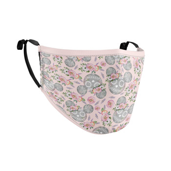 Fitted Face Mask with 50 filters - Minnie Sugar Skulls Mouse Ears