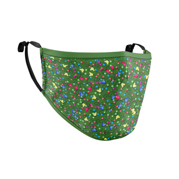 Fitted Face Mask with 50 filters - Mouse Ears Christmas Lights