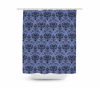 Rainbow Rules Shower Curtain - Haunted Mansion Wallpaper - READY TO SHIP