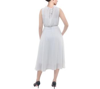 Ruffle Collar Chiffon Midi Dress