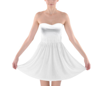 Strapless Cotton Skater Dress