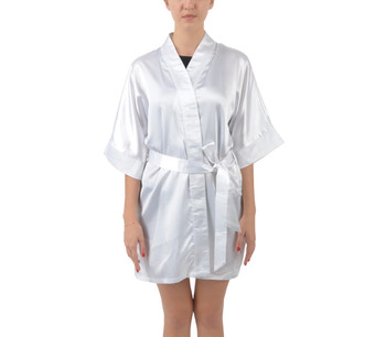 Half Sleeve Satin Kimono