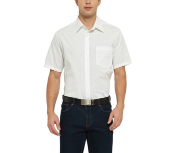 Men's Button Down Short Sleeve Pocket Shirt