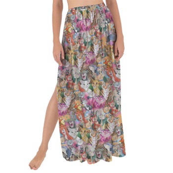 Maxi Sarong Skirt - Cats of Disney