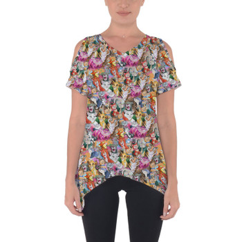 Cold Shoulder Tunic Top - Cats of Disney