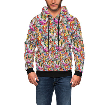 Men's Zip Up Hoodie - Cats of Disney