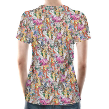 Women's Cotton Blend T-Shirt - Cats of Disney