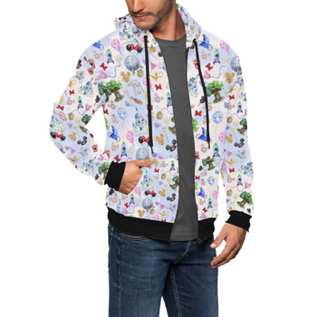 Men's Zip Up Hoodie - WDW Park Hopper